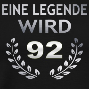 En legende blir 92 - Premium T-skjorte for menn