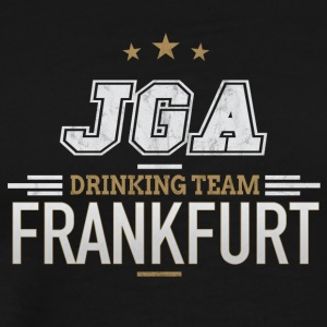 Bachelor JGA Frankfurt Drinking Team - Premium T-skjorte for menn