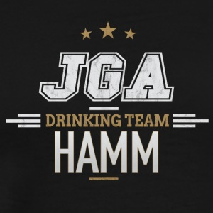 Bachelor JGA Hamm Drinking Team - Premium T-skjorte for menn