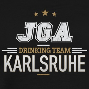Bachelor Party JGA Karlsruhe Drinking Team - Men's Premium T-Shirt