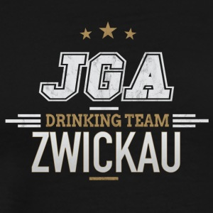 Bachelor JGA Zwickau Drinking Team - Premium T-skjorte for menn