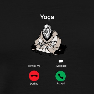 Yoga appelle - yoga énonciation drôle - T-shirt Premium Homme
