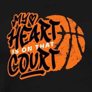 Basketball My Heart er på Court gjorde. B-Ball spill - Premium T-skjorte for menn