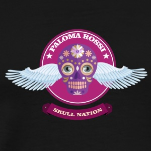 Paloma Rossi - Flying Skull Limited Edition - Mannen Premium T-shirt