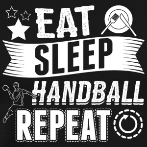 Handbal EET SLAAP REPEAT - Mannen Premium T-shirt