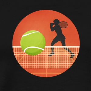 Tenniskreis with player and ball - Men's Premium T-Shirt