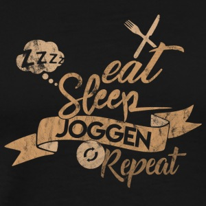 EAT SLEEP REPEAT RUNNING - T-shirt Premium Homme