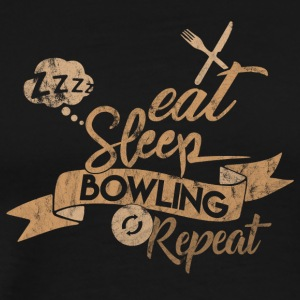 EAT SLEEP BOWLING REPEAT - Koszulka męska Premium