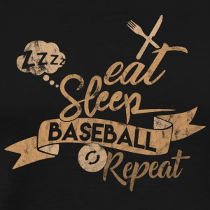 EAT SLEEP BASEBALL REPEAT - Koszulka męska Premium