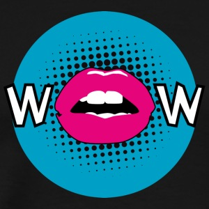 Pop Art / Graphic Novel: WOW - bouche, lèvres, moue - T-shirt Premium Homme