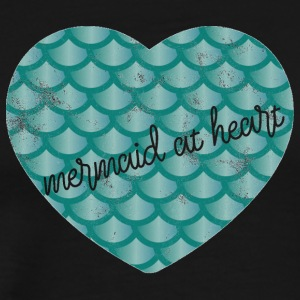 Mermaid / Mermaid: Mermaid at Heart - Hart groen - Mannen Premium T-shirt