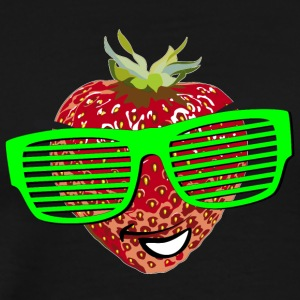horny strawberry strawberry cool sunglasses Hipste - Men's Premium T-Shirt