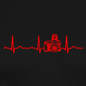 ECG HEARTBEAT CAMERA Rouge - T-shirt Premium Homme