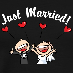 Cute Just Married - Premium T-skjorte for menn