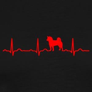 ECG HEARTS DOG SHIBA INU HACHIKO Red - Men's Premium T-Shirt