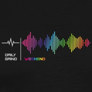 Daily grind - Weekend Frequency Music Rainbow - Men's Premium T-Shirt