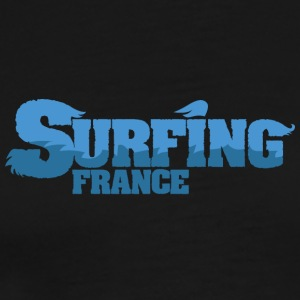 FRANKRIKE Surfing Water Country - Premium T-skjorte for menn