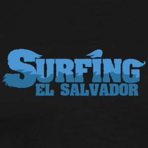 EL SALVADOR Surfing Water Country - Premium T-skjorte for menn