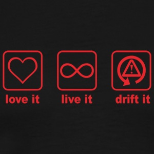 love it live it drift it rot design - Männer Premium T-Shirt