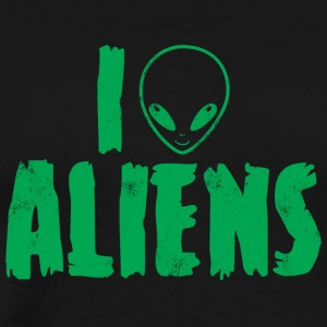 Alien / Zone 51 / UFO: I Love Aliens - T-shirt Premium Homme