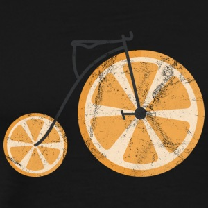 Frukt / frukt: Orange - Orange Bicycle - Premium-T-shirt herr