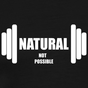 Natural not possible US WHITE - Men's Premium T-Shirt