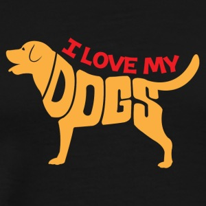 I Love My Dog - Herre premium T-shirt