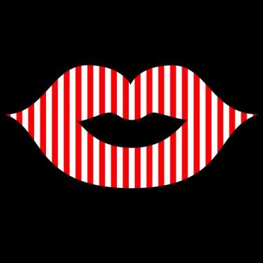 ef2d165882704e Lippenstift   Mund   Kussmund  Rot Weiß gestreift - Männer Premium T-Shirt