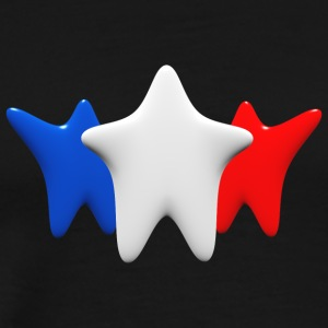 Stars in blue, white and red - Men's Premium T-Shirt