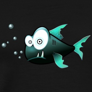 Poisson avec requin cartoon dents - T-shirt Premium Homme