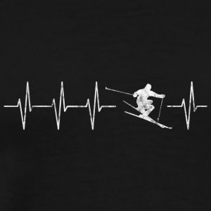 Skiing heart beat - Men's Premium T-Shirt