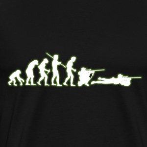 Human Evolution Sniper - Premium T-skjorte for menn