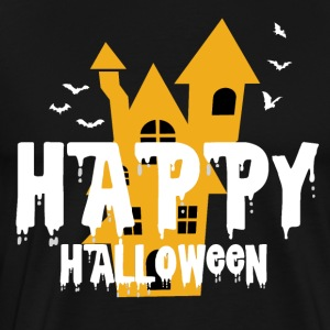 Gelukkig Haunted Halloween Castle Haunted Castle geest - Mannen Premium T-shirt