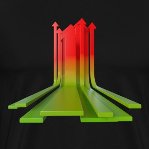 Arrows Red Green - Men's Premium T-Shirt