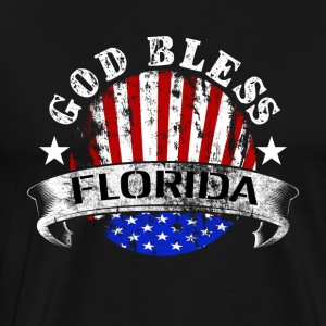 america god bless florida irma hurricane storm - Men's Premium T-Shirt
