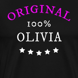 Original 100% Olivia, gift, name - Men's Premium T-Shirt