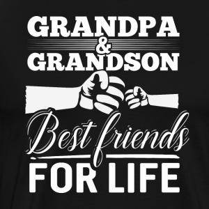 Grandpa and Grandson - Best Friends For Life - Männer Premium T-Shirt