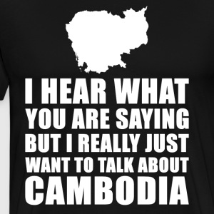 Funny Cambodia holiday gift idea - Men's Premium T-Shirt
