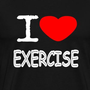 I LOVE EXERCISE - Männer Premium T-Shirt