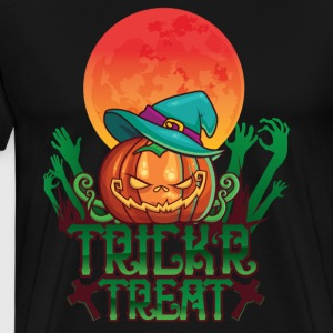 Trick or treat - nærmer seg Halloween! - Premium T-skjorte for menn