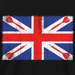 Vintage Flag > UK Flag Made of Darts - Männer Premium T-Shirt