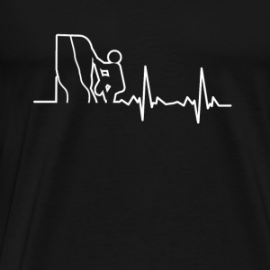 My heart beats for climbing - Men's Premium T-Shirt