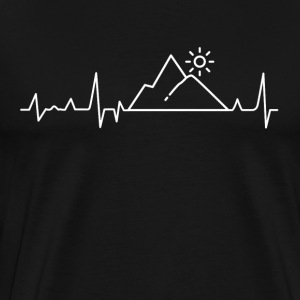 Mountains Heartbeat Gave T-shirt - Herre premium T-shirt