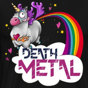 Death Metal Unicorn - Premium-T-shirt herr