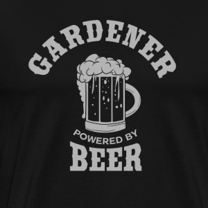 GARDENER powered by BEER - Men's Premium T-Shirt