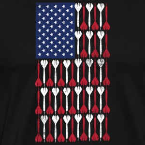 Vintage Flag > US Flag Made of Darts - Männer Premium T-Shirt