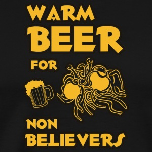 Warm beer for non believers pastafarian flying spa - Men's Premium T-Shirt