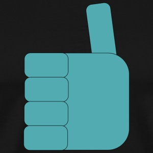 Thumbs_up_Robo - Premium T-skjorte for menn