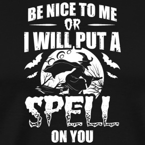 Scary Halloween Costume Shirt Be Nice To Me - Männer Premium T-Shirt