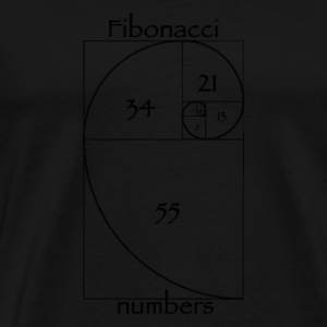 fibonacci zahlen m nner premium t shirt spreadshirt. Black Bedroom Furniture Sets. Home Design Ideas